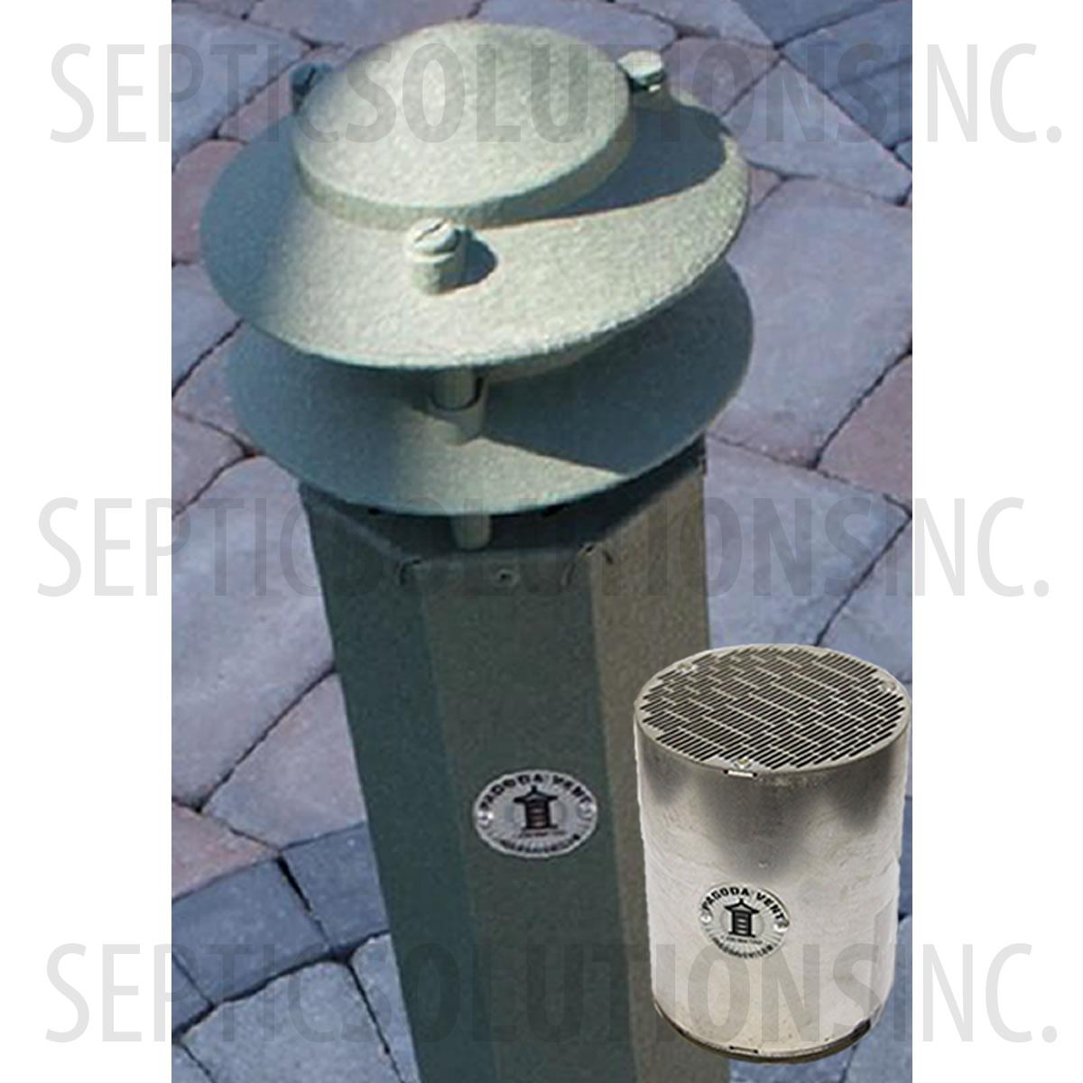 3 Pagoda Vent With Carbon Filter Cartridge Moss Green