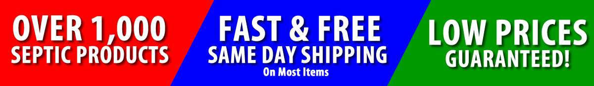 septic parts fast and free shipping