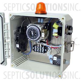 Regenerative Blower and Rotary Vane Timer Control Box with Alarm (120VAC, 10 FLA)