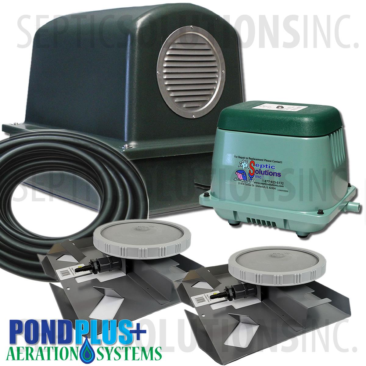 Pondair p o2 1202 small pond aeration system for Best pond pump for small pond
