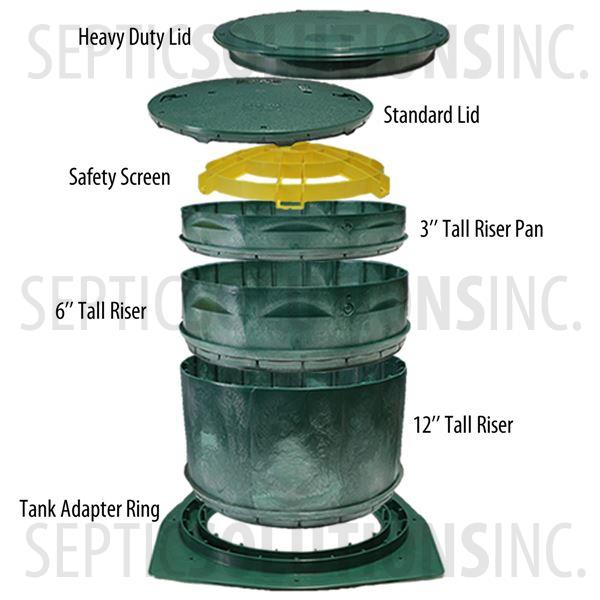 "Polylok 24"" Septic Tank Riser Safety Screen - Part Number 3008-SS"