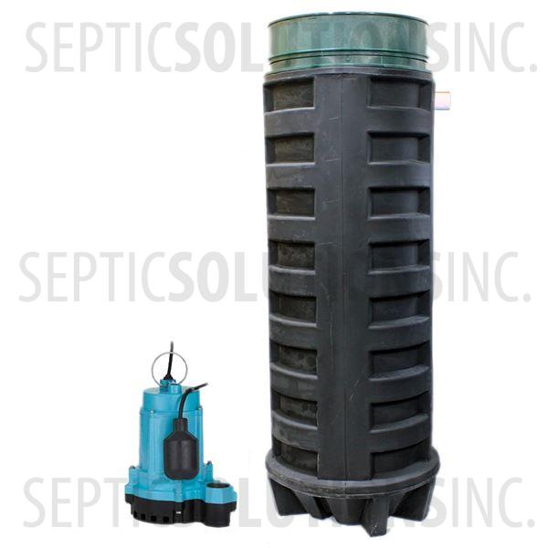 140 Gallon Simplex Polyethylene Pump Station with 1/3 HP Effluent Pump - Part Number 140PPT-13E