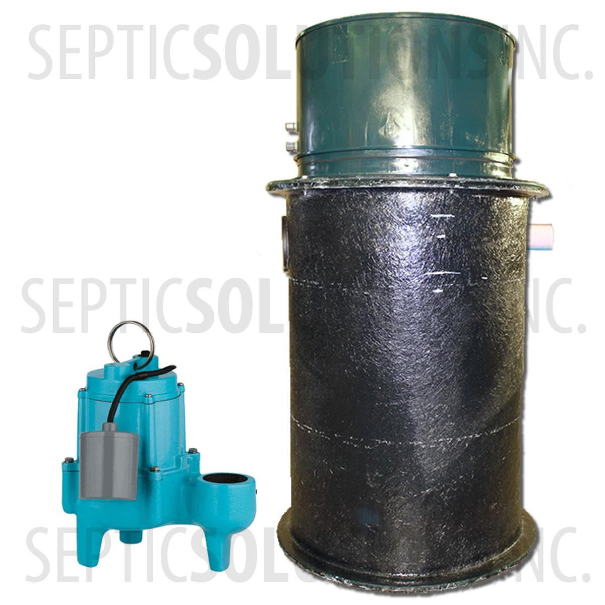 prodigious Sewage Ejector Pump Kit Part - 13: 70 Gallon Simplex Fiberglass Pump Station with 4-10 HP Sewage Ejector Pump