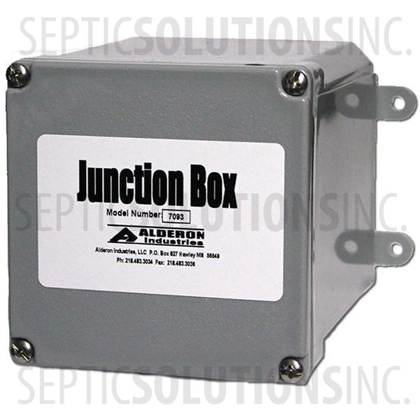 "Alderon Small Junction Box - 4"" x 4"" x 4"", No Hub, No Cord Grips - Part Number 7093"