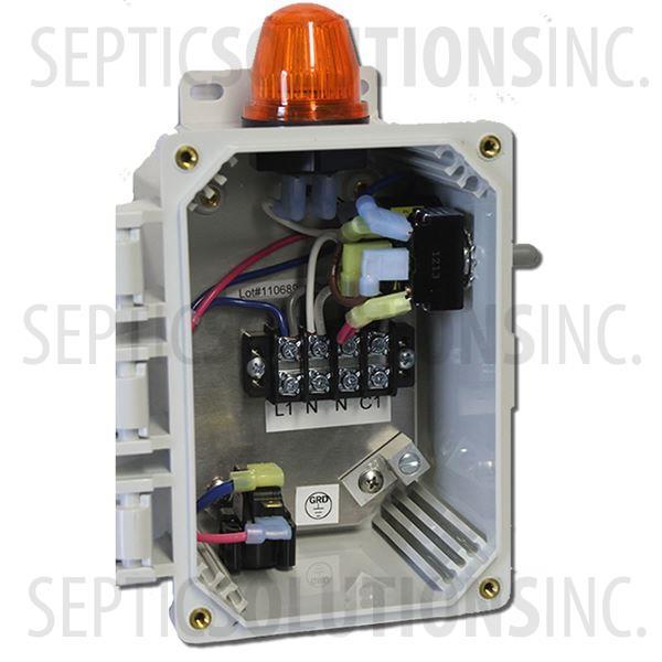 Septic Air Pump Alarm Control Panel Free Same Day Shipping