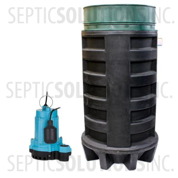 100 Gallon Simplex Polyethylene Pump Station with 1/3 HP Effluent Pump - Part Number 100PPT-13E