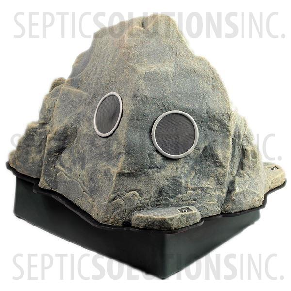 Fieldstone Gray Vented Replicated Rock Enclosure Model 109 with Platform Base - Part Number 109Combo-FS