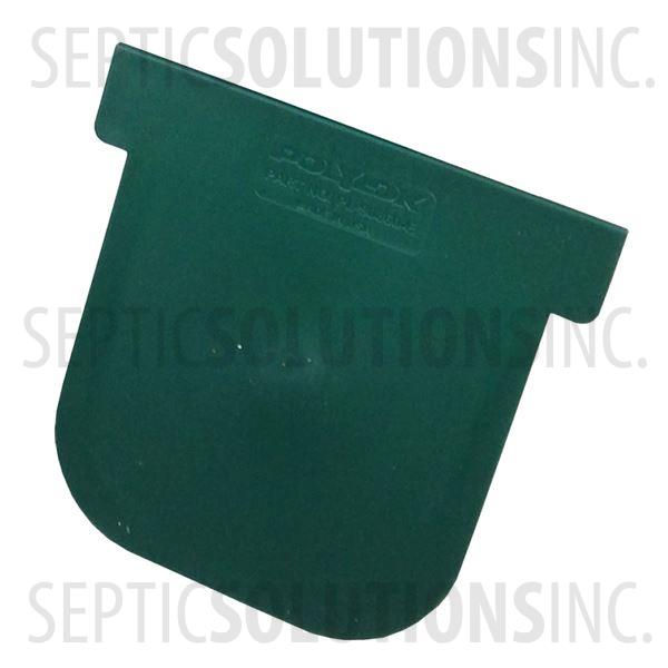 Polylok Heavy Duty Trench/Channel Drain Closed End Cap (Green) - Part Number PL-90860-CEGR