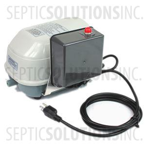 Secoh SLL-40-AL Linear Septic Air Pump with Attached Alarm