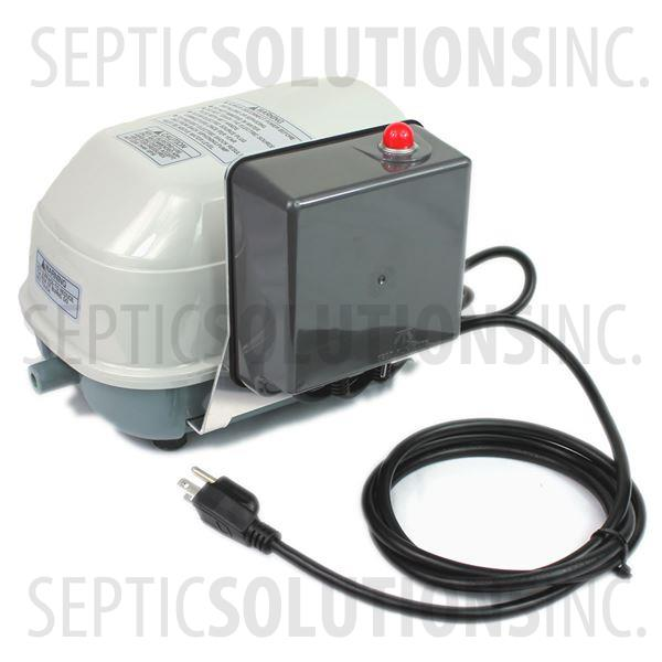 Secoh SLL-40-AL Linear Septic Air Pump with Attached Alarm - Part Number SLL40AL