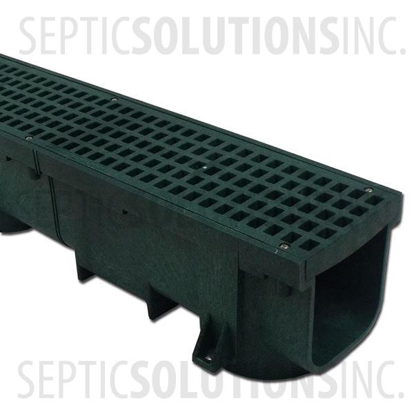 Polylok Heavy Duty Trench/Channel Drain - 4 ft Section (GREEN) - Part Number PL-90860-GR
