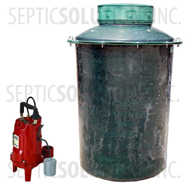 500 Gallon Pump Station with 1.0 HP Residential Grinder Pump - Part Number 500FPT-PRG1