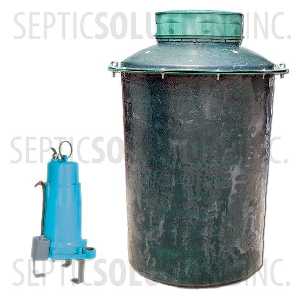 500 Gallon Pump Station with 2.0 HP Little Giant Sewage Grinder Pump - Part Number 500FPT-20G