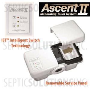 Liberty Ascent II ESW Mascerating Toilet System with Elongated Bowl
