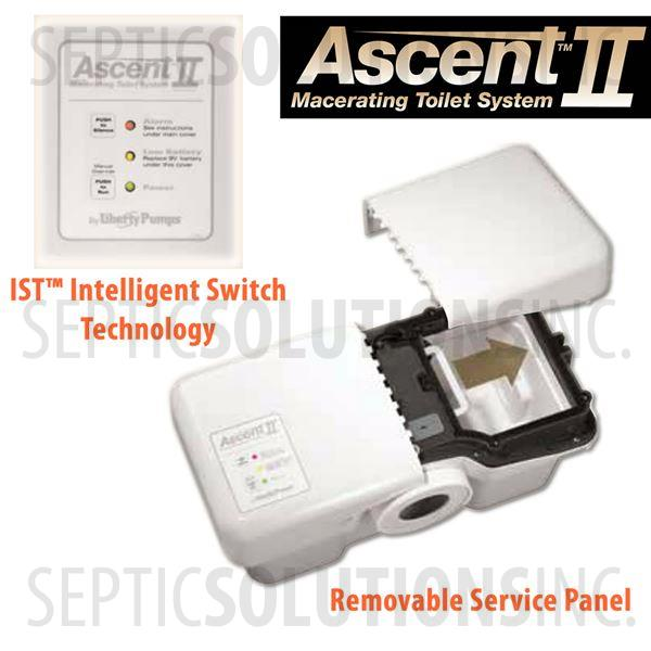 Liberty Ascent II ESW Mascerating Toilet System with Elongated Bowl - Part Number ASCENTII-ESW