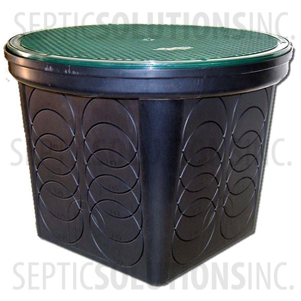 Polylok 8-Hole Drainage Box with Grate Cover - Part Number 3017-8H-GC