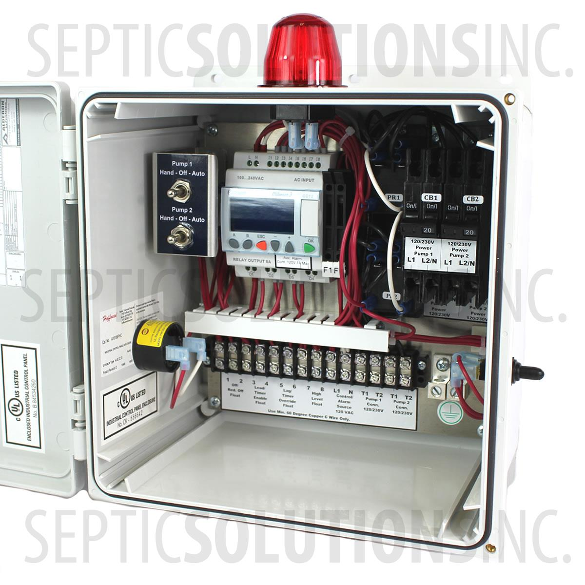 Time Control Panel : Alderon smart iq duplex time dosing control panel
