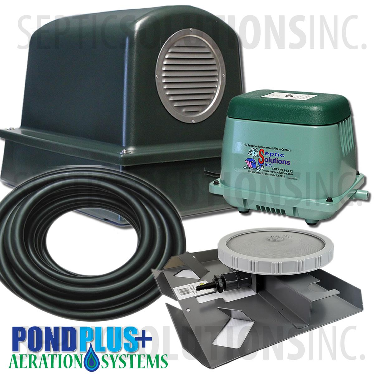 Pondair p o2 1001 small pond aeration system for Best pond pump for small pond