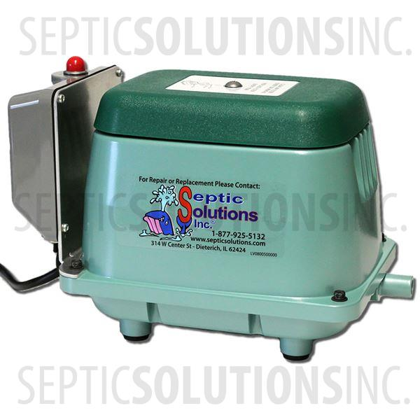 Aqua-Safe Alternative 500 GPD Linear Septic Air Pump with Attached Alarm - Part Number AS500A