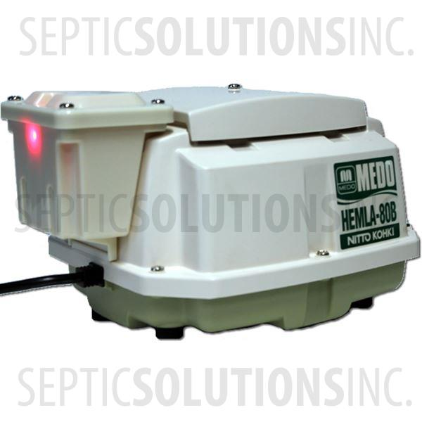 Cajun Aire Alternative 500 GPD Piston Septic Air Pump with Attached Alarm - Part Number CA500MA