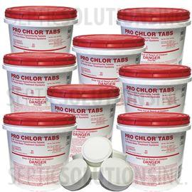 Pro-Chlor 8-Pack of 2lb Pails of Septic Chlorine Tablets