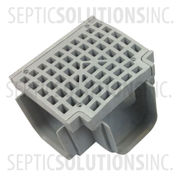 Polylok Heavy Duty Trench/Channel Drain Tee & Grate (Grey) - Part Number PL-90860-TG