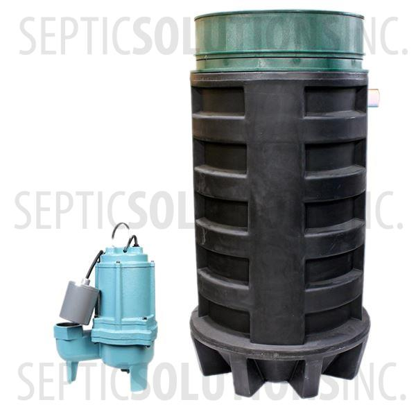 100 Gallon Simplex Polyethylene Pump Station with 4/10 HP Sewage Ejector Pump - Part Number 100PPT-410S