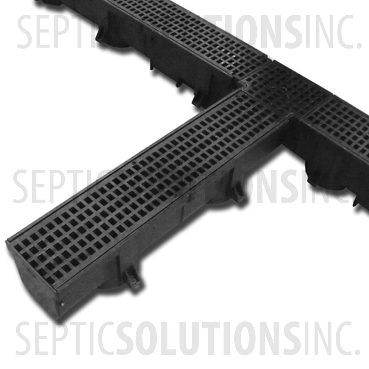 Heavy Duty Trench Channel Drain Black 4 Ft Sections