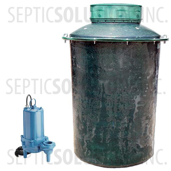 300 Gallon Simplex Fiberglass Pump Station with 1.0 HP Sewage Ejector Pump - Part Number 300FPT-10S