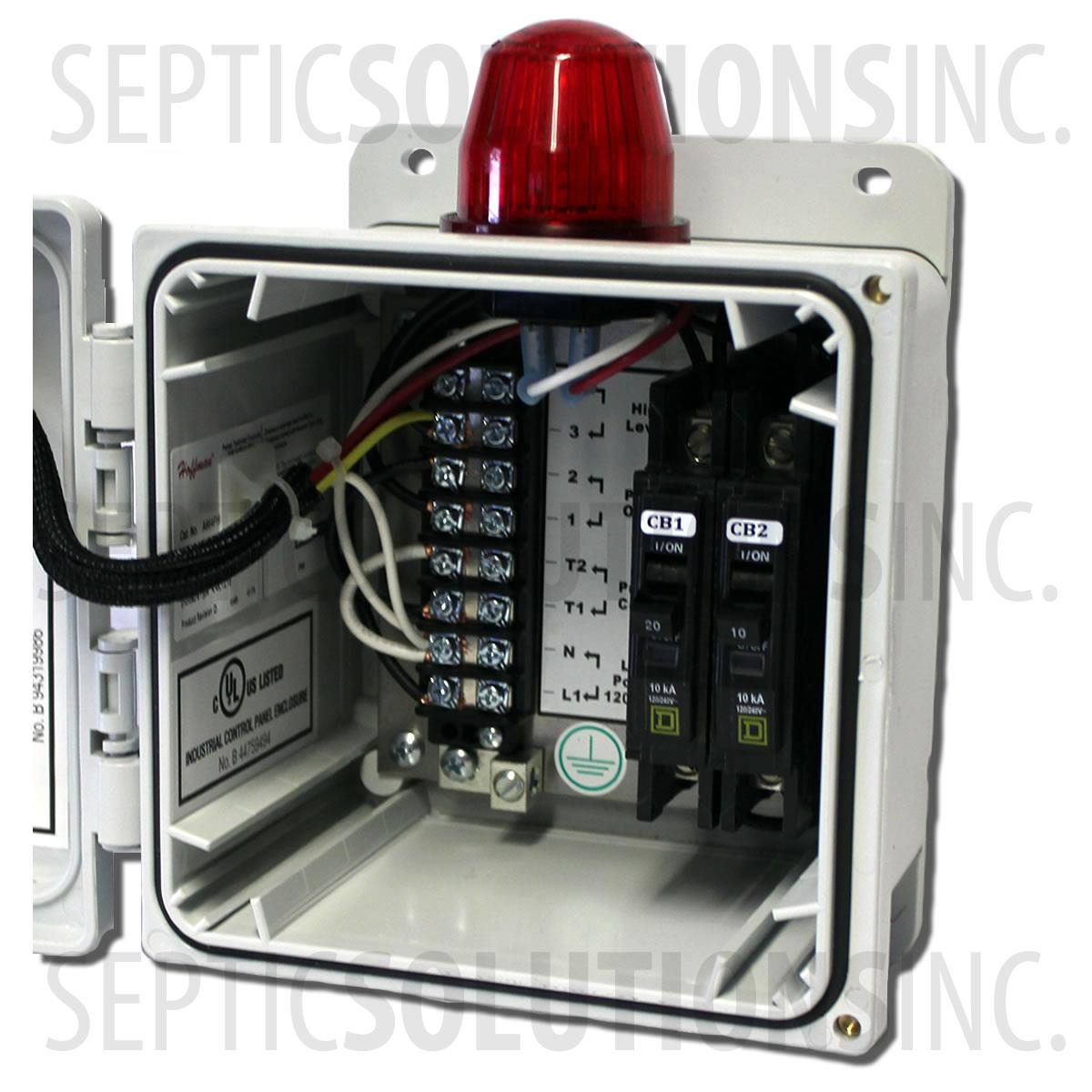 Two Breaker Economy Simplex Control Panel High Water Alarm