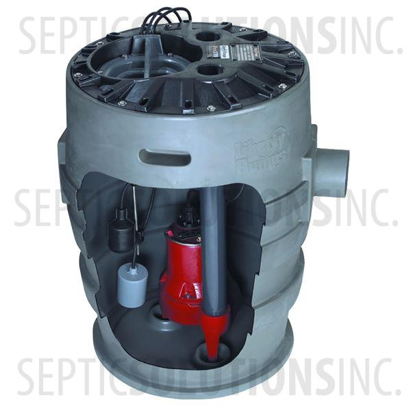 Liberty Pro370-Series Pre-Packaged Sewage Pump System with 1/2 HP Sewage Ejector Pump - Part Number P372LE51