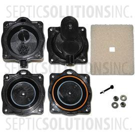 Clearstream aerobic septic system air pumps and repair parts hiblow hp 60 and hp 80 diaphragm replacement kit ccuart