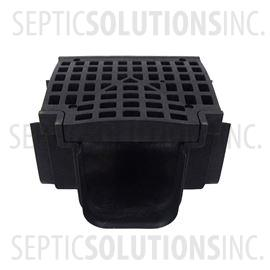 Polylok Heavy Duty Trench/Channel Drain Tee & Grate (BLACK)