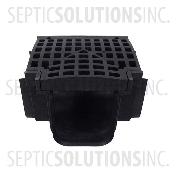 Polylok Heavy Duty Trench/Channel Drain Tee & Grate (BLACK) - Part Number PL-90860-T