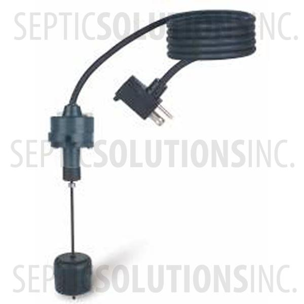 V-Navigator Mechanical Vertical Sump Pump Float Switch with 10' Cord, Piggyback Plug - Part Number 20A201