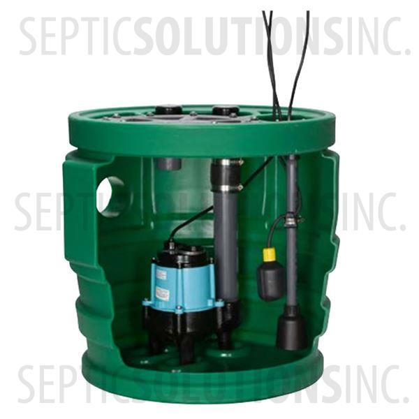 "Little Giant PitPlus Jr. 24"" x 24"" Pre-Packaged Sewage Pump System with 4/10 HP Sewage Ejector Pump - Part Number 509673"