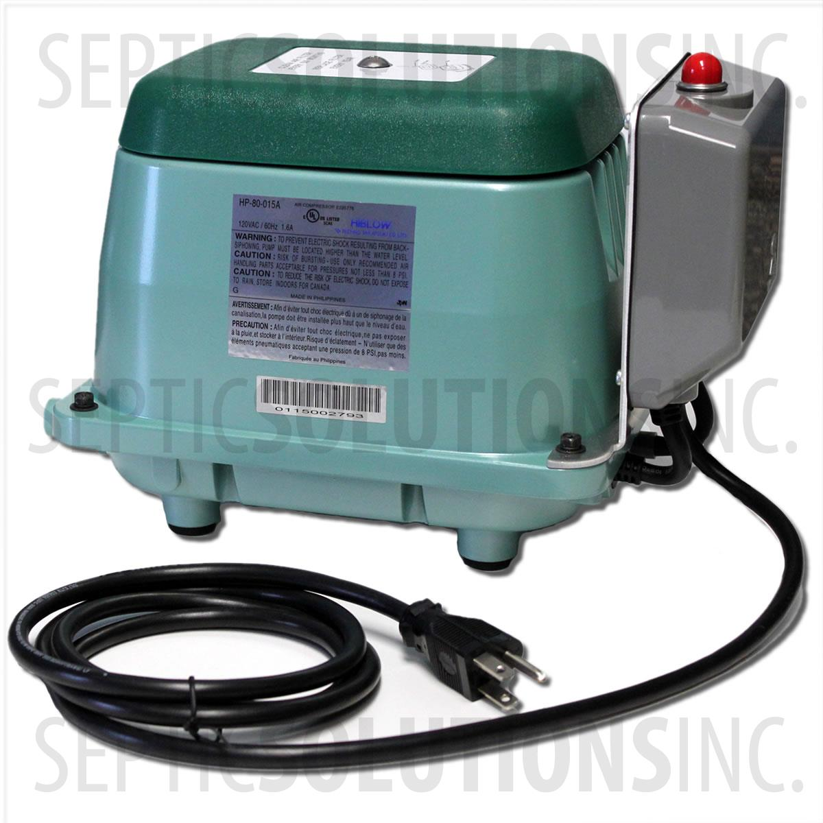 Hiblow Hp 80 013a Septic Air Pump With Alarm Free Same