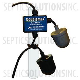 Alderon DoubleMax Dual Mechanical Pump Float Switch with 20' Cord, 240VAC Piggyback Plug