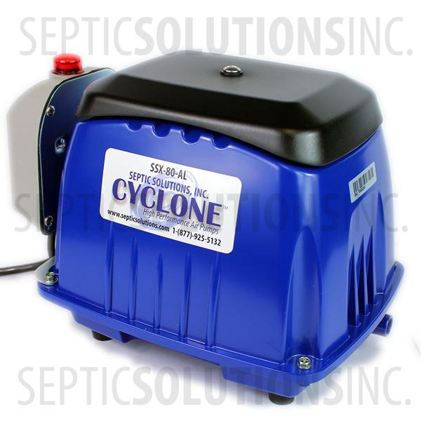 Cyclone SSX-80-AL Linear Septic Air Pump with Attached Alarm - Part Number SSX80AL
