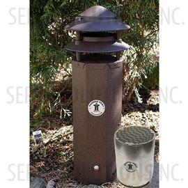 Three Foot Pagoda Vent in Bark Brown with Activated Carbon Filter Cartridge