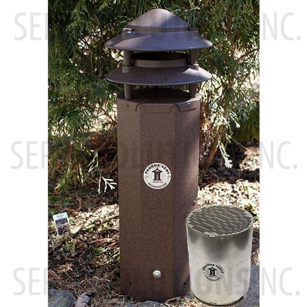 3 Pagoda Vent With Carbon Filter Cartridge Bark Brown