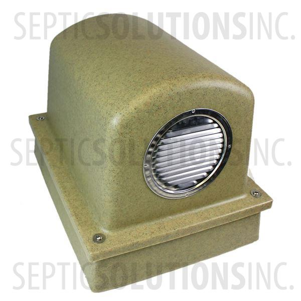 Pump Protector™ Vented Air Pump Housing and Platform in Speckled Sandstone - Part Number SSCOMBO-SANDSTONE