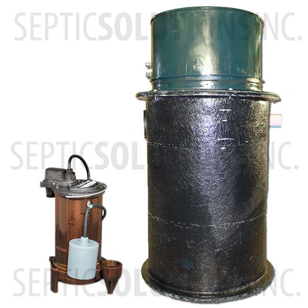 70 Gallon Simplex Fiberglass Pump Station with 1/2 HP Effluent Pump - Part Number 2153-283