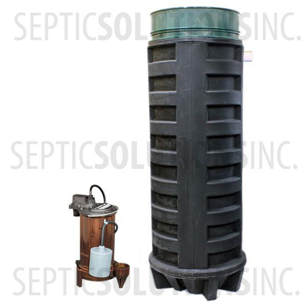 140 Gallon Simplex Polyethylene Pump Station with 1/2 HP Effluent Pump - Part Number 140PPT-283