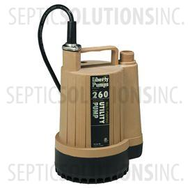 Liberty Pumps 260 1/6 HP Submersible Utility Pump