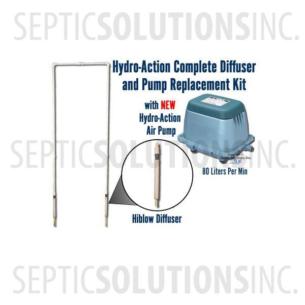Hydro-Action Complete NSF Approved Diffuser and Pump Replacement Kit - Part Number HA-DIFKITPUMP