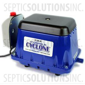 Cyclone SS-40-AL Linear Septic Air Pump with Attached Alarm