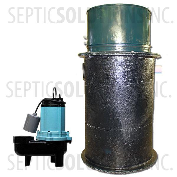 70 Gallon Simplex Fiberglass Pump Station with 1/2 HP Sewage Ejector Pump - Part Number 2153-12S