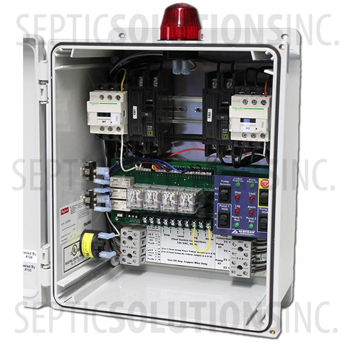 duplex sewage pump control panels free same day shipping rh septicsolutions com