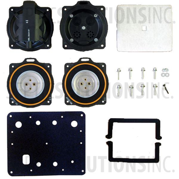 Hiblow HP-100LL and HP-120LL Complete Diaphragm Replacement Kit - Part Number HP100120LLKit